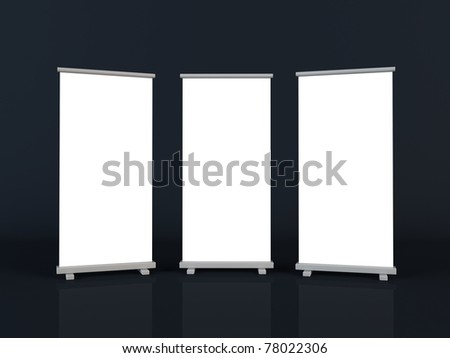 Roll up banners - stock photo