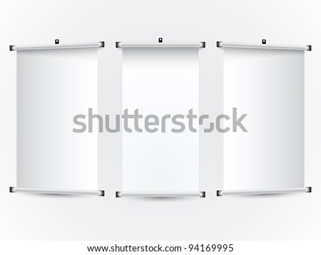 roll up banners; abstract art illustration - stock photo
