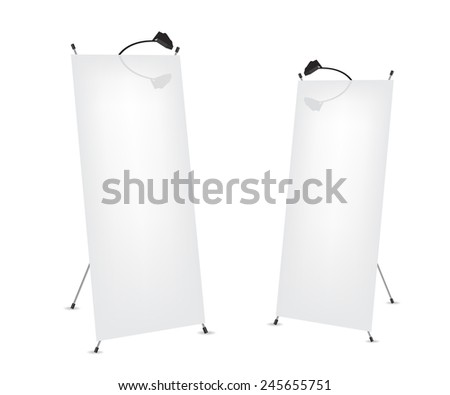 Roll up x-stand banner illustration - stock photo