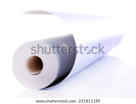 Roll wallpaper isolated on white