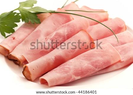 Rolled Ham - stock photo