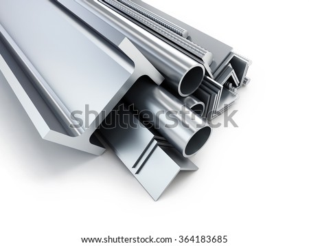 rolled metal products. 3d Illustrations on a white background - stock photo