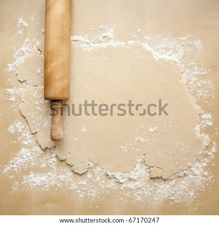 Rolled Out Pie Crust - stock photo