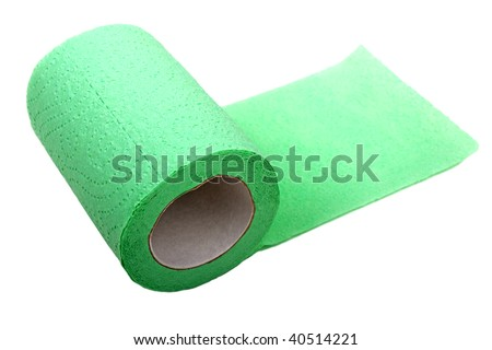 Rolled public toilet hygiene paper white isolated