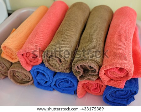 Rolled towels - stock photo