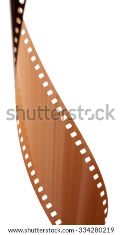 Rolled undeveloped film strip vertical. - stock photo