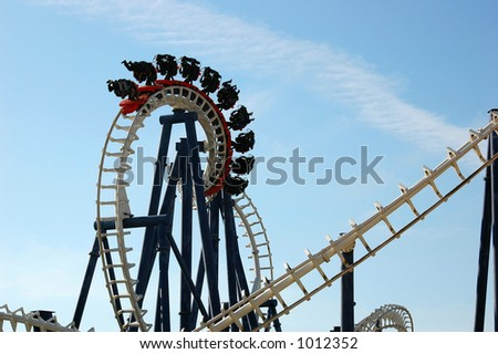 Roller coaster - stock photo