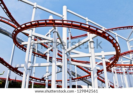 Roller coaster in Thai's amusement park