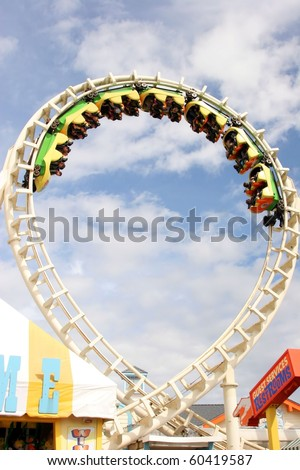 Roller Coaster ride - stock photo