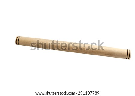 roller for dough isolated on a white background - stock photo