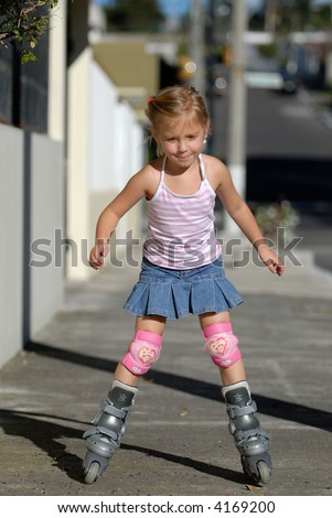 roller girl - stock photo