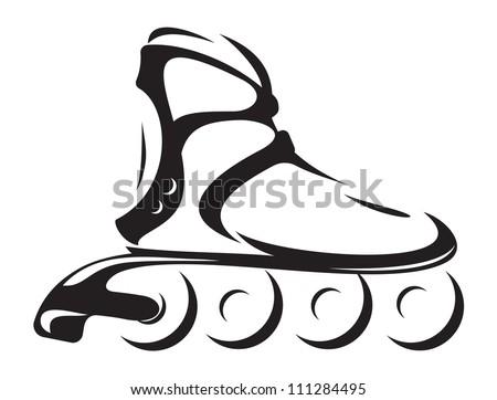 roller skate - stock photo