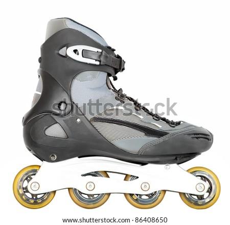 roller skate isolated on white - stock photo
