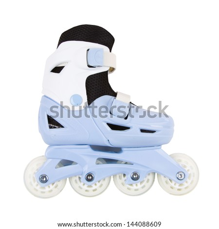 roller skates isolated on white background - stock photo