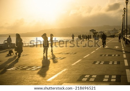 Rollerblade skaters in Nice