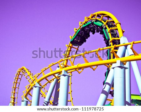 Rollercoaster - stock photo