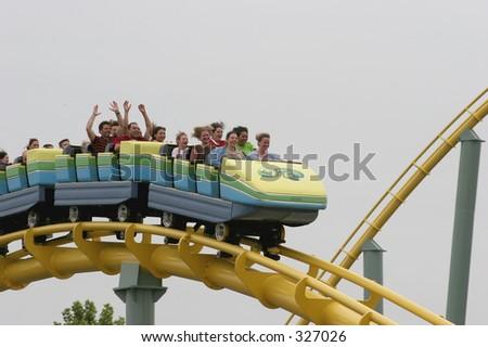 Rollercoaster fun - stock photo