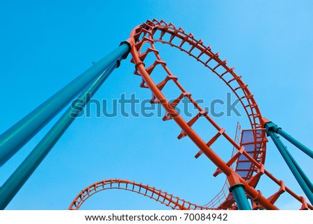 rollercoaster in thailand - stock photo