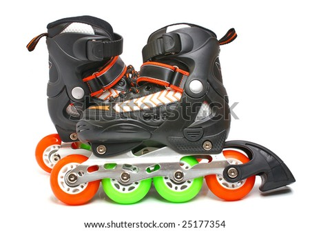 rollers isolated on white background