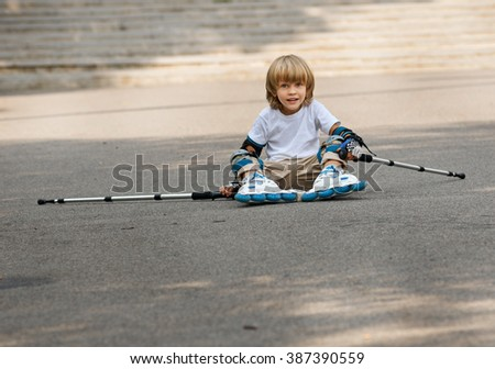 Rolling and falling - stock photo