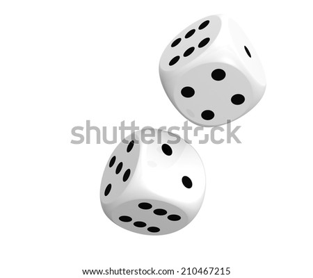Rolling dices - stock photo