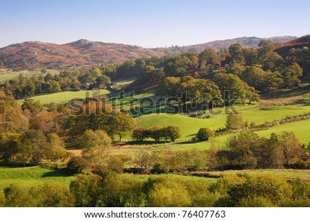 Rolling English countryside - stock photo