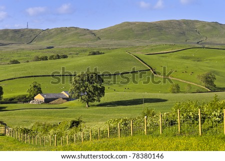 Rolling English Countryside In summer - stock photo