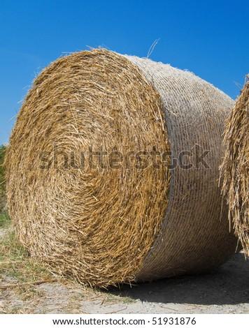 Rolling Haystack. - stock photo