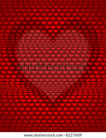 rolling hearts - stock photo