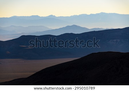 Rolling Hills of Death Valley at Sunrise - stock photo