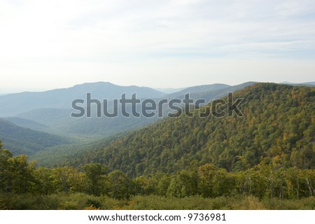 rolling hills of the blue ridge mountains