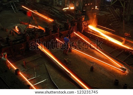 Rolling Mill - stock photo