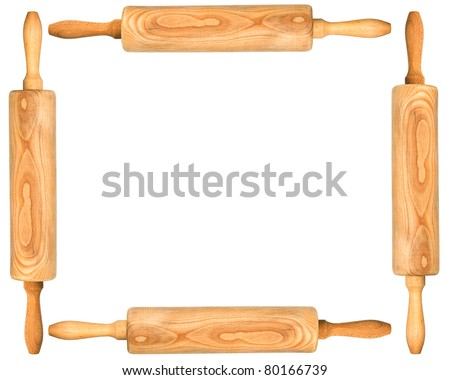Rolling-Pin frame - stock photo