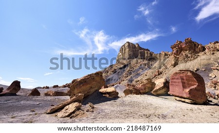 Rolling stones in Grand Staircase-Escalante National Monument, Utah. - stock photo