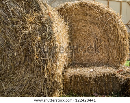 rolling straw - stock photo