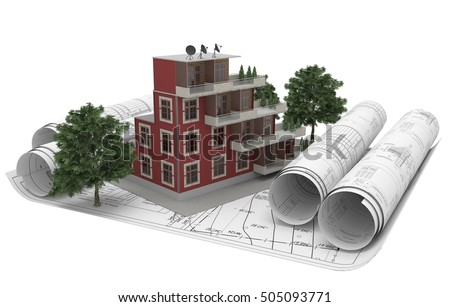 Architecture Drawing 3d architectural drawing stock images, royalty-free images & vectors