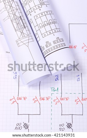electronic schematic diagram ideal technology background stock, Wiring electric