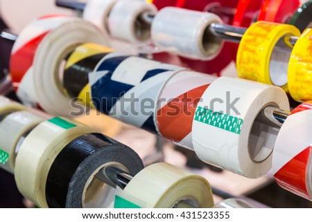 Rolls of packing scotch tapes