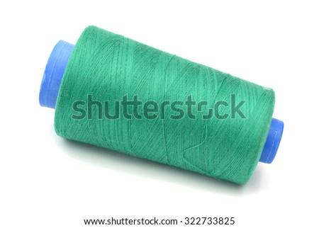 rolls of sew thread  - stock photo