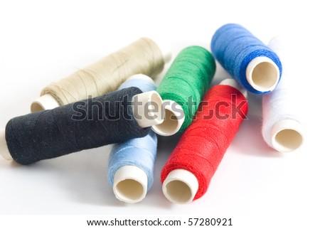 Rolls or yarn - stock photo