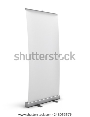 Rollup isolated on white background. 3d render image. - stock photo