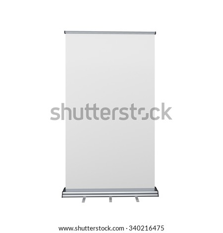 rollup or banner on white background