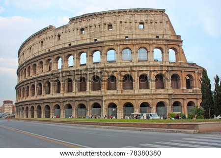 Roma coliseum - stock photo