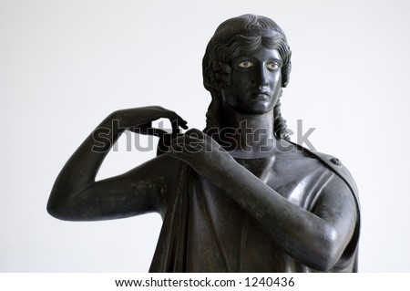 Roman antiquities from Pompeii in Naples Archaeological Museum:'Peplophoroi' one of the five
