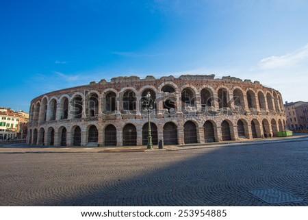 Roman Arena in Verona  - stock photo