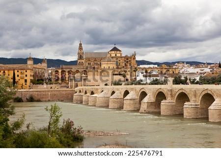 Roman Bridge (Puente romano de C�³rdoba). Cordova. Spain - stock photo