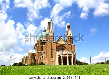 Roman catholic minor Basilica of the Sacred Heart in Brussels, Belgium - stock photo