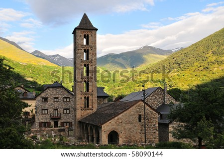 Roman Church of Santa Eulalia in Erill-la-Vall (Catalonia - Spain). This is one of the nine churches which belongs to the World Heritage Site.