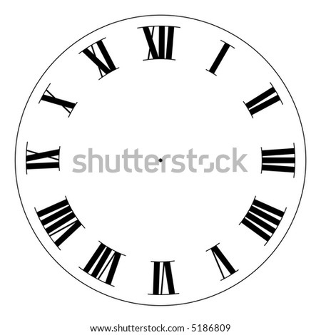 Precision Clock Face Template Isolated On Stock Illustration