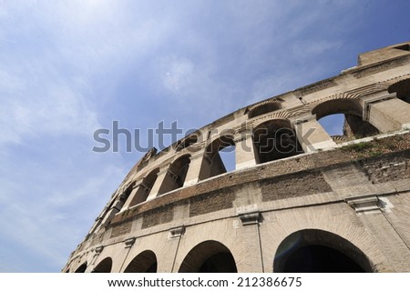Roman Colosseum from Below - stock photo